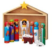 Nativity Set with Shed